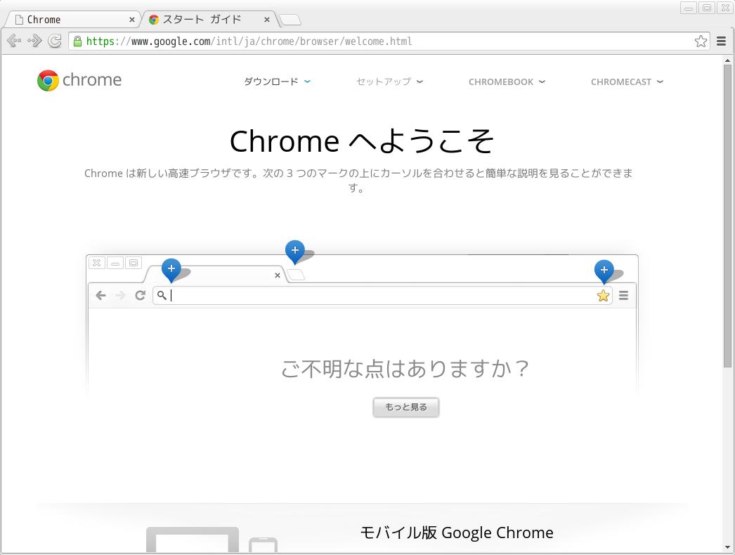 Google Chrome画面